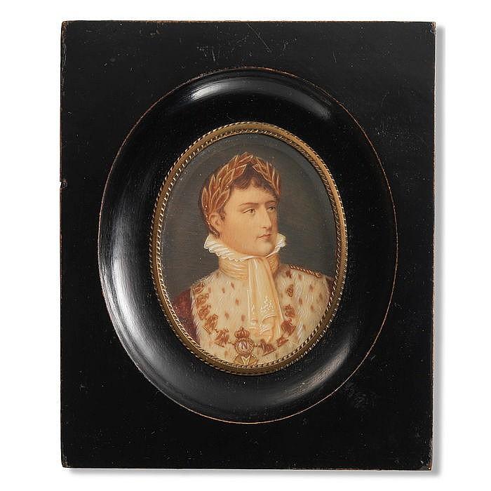 FRANZÖSISCHE SCHULE 19. JH., Portrait des Napoléon Bonaparte