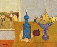 GEORGES GIRARD, Payerne 1917-2003 Fontvieille, La nappe jaune
