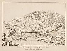 JOSEF FRANZ XAVER LEONTIUS TRINER, Arth 1767-1824 Bürglen, Vue à Meitschlingen, dans le Canton d'Uri