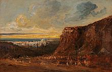 EDOUARD-JACQUES DUFEU, Marseille 1840-1900 Grasse, Beduinen ausserhalb der Stadt