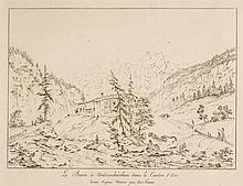 JOSEF FRANZ XAVER LEONTIUS TRINER, Arth 1767-1824 Bürglen, Le Bain à Unterschächen dans le Canton d'Uri