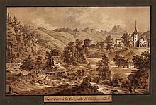 JOSEF FRANZ XAVER LEONTIUS TRINER, Arth 1767-1824 Bürglen, Burglen & la Chapelle de Guillaume Tell