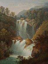 ANTON WINTERLIN, Degerfelden 1805-1894 Basel, Fischer am unteren Reichenbachfall