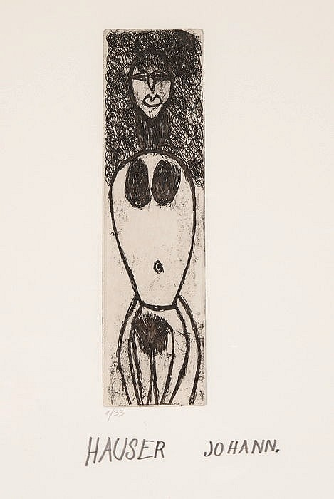 JOHANN HAUSER, Bratislava 1926-1996 Klosterneuburg, Ohne Titel (Frauenakt)