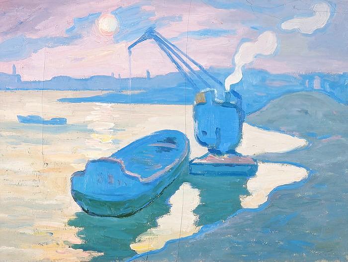 IVAN IVANOVICH GODLEVSKY, Dobromerichi/Chelm 1908-1998 St. Petersburg, Bucht von Simferopol