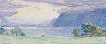 "ABRAHAM HERMENJAT Genf 1862-1932 Aubonne Temps d'Orage Unten links signiert ""A. Herme"