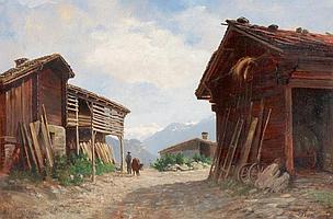 JULES SAMUEL JEQUIER - Genf 1834-1898 Montreux - Alphütten