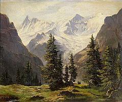 Finsteraarhorn und Fiescherhorn