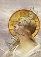Kopf einer Heiligen, Paul François Quinsac, Click for value