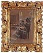 GIUSEPPE SOLENGHI - Mönch beim Bemalen einer Vase, Giuseppe Solenghi, Click for value