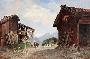 JULES SAMUEL JEQUIER - Alphütten