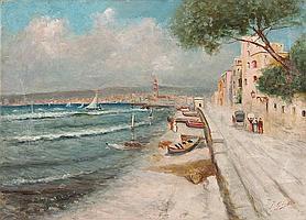 FAUSTO GIUSTO - Am Strand vor Neapel