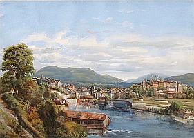 """JEAN DU BOIS - """"Vue de Genève du Quartier actuel de St. Jean vers 1835"""""""