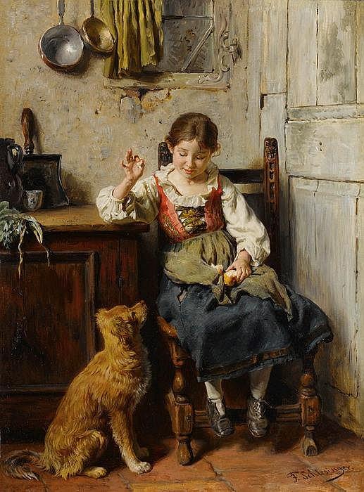 FELIX SCHLESINGER - Mädchen mit Hund