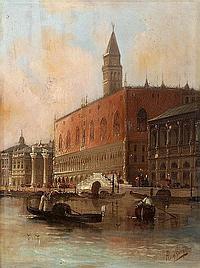 AUGUST VON SIEGEN - Der Dogenpalast in Venedig