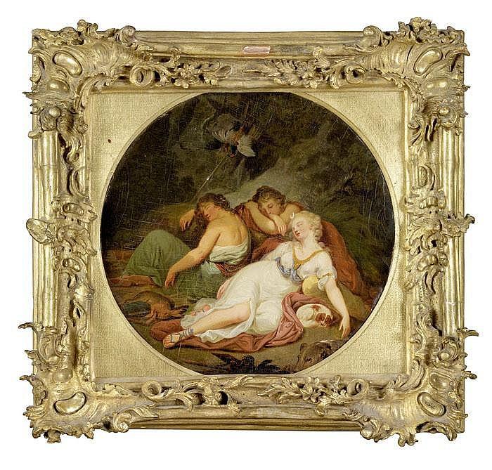 Die schlafende Diana mit Nymphen