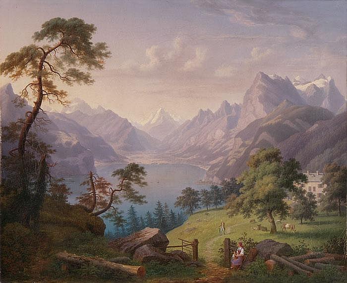 ANTON WINTERLIN  Ansicht von Seelisberg