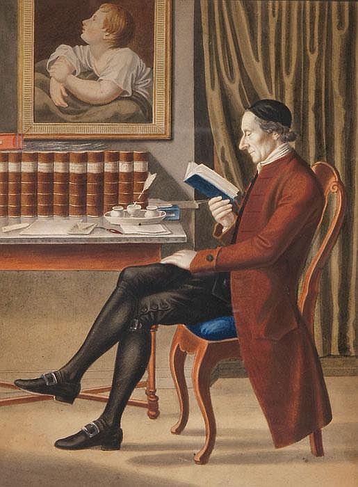 JOHANN HEINRICH LIPS  Johann Kaspar Lavater bei der Lektüre