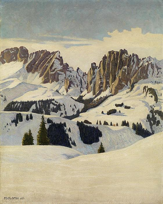 PLINIO COLOMBI  Winterlandschaft in den Dolomiten