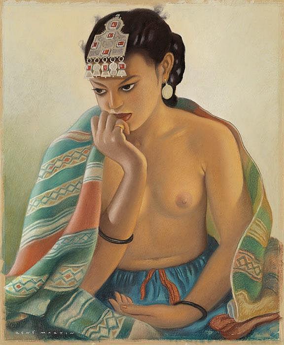 RENÉ MARTIN  Jeune femme de Marrakech