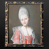 JEAN-LAURENT MOSNIER - Paris 1743-1808 St.Petersburg - Wahr - Bildnis einer Adeligen