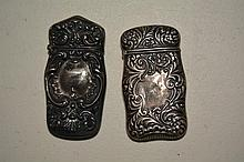 (2) Sterling Silver Match Holders, 1 T Oz