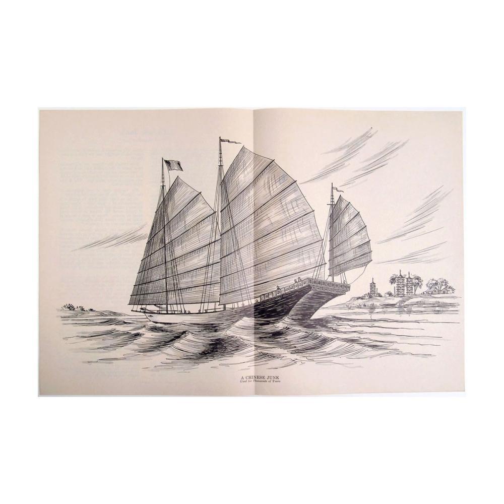 1dac651393302 Antique 1930 Maritime Print - A Chinese Junk