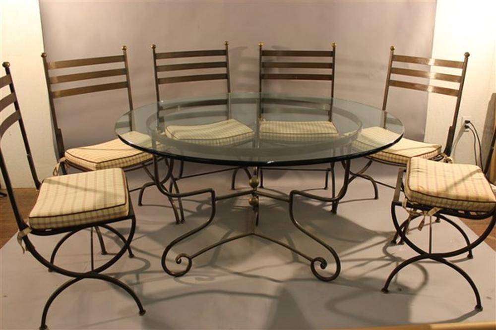 Sold Price Iron Round Dining Table W Six Chairs January 1 0119 6 00 Pm Est