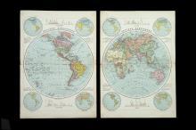 Bacon, George Washington, 123 Numbered maps c.1880,