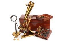 A R & J Beck Binocular 'Popular Microscope',