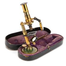 A French Cased Microscope,