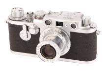 A Leica IIIf Delay Rangefinder Camera,