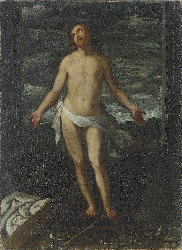 Massimo Stanzione  (Frattamaggiore o Orta di Atella ca. 1585 - Napoli, ca. 1656) Cristo con i simboli ofla passione