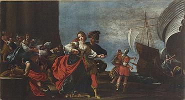 Alessandro Tiarini (Bologna 1577 - 1668) Il ratto di Elena