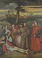 Tiziano Vecellio [copia da]  (Pieve di Cadore 1480/1485 - Venezia 1576) S.Antonio: Il miracolo of piede reciso