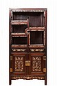 A large mother-of-pearl inlaid rosewood display cabinet