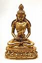 A gilt bronze figure of Amitayus