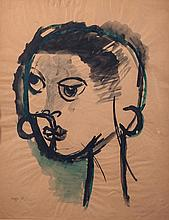 Roberto Crippa  (Milan 1921 - Bresso 1972) Figura (Figure), 1948, mixed media on paper