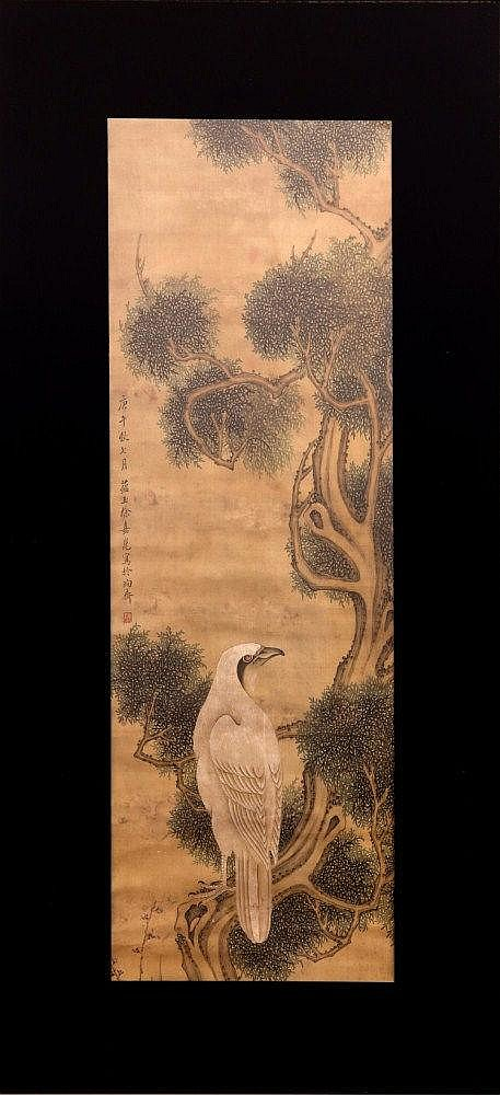 Tempera on silk painting China, Qing Dynasty, 18th Century