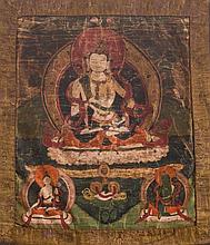 A Thangka depicting Vajrasattva TIbet, 18th-19th Century