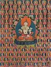 Thangka depicting Vajrasattva Tibet, 18th century