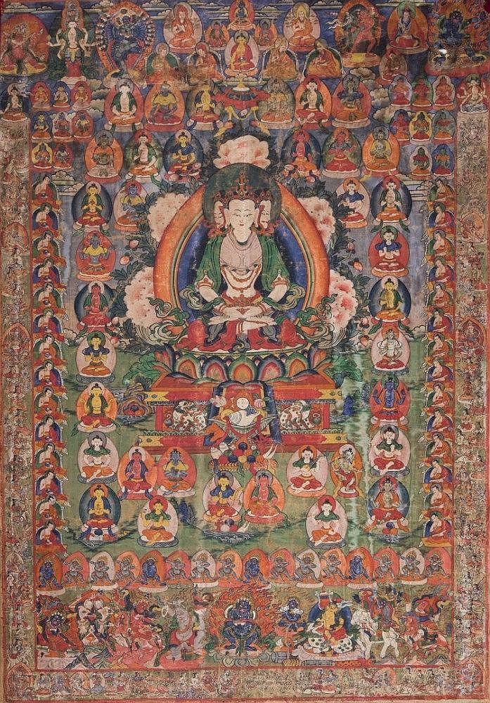 A Thangka depictingBrahma China/Tibet, early 19th Century