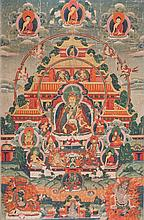 A Thangka depiciting Padmasambhava China/Tibet, 19th Century