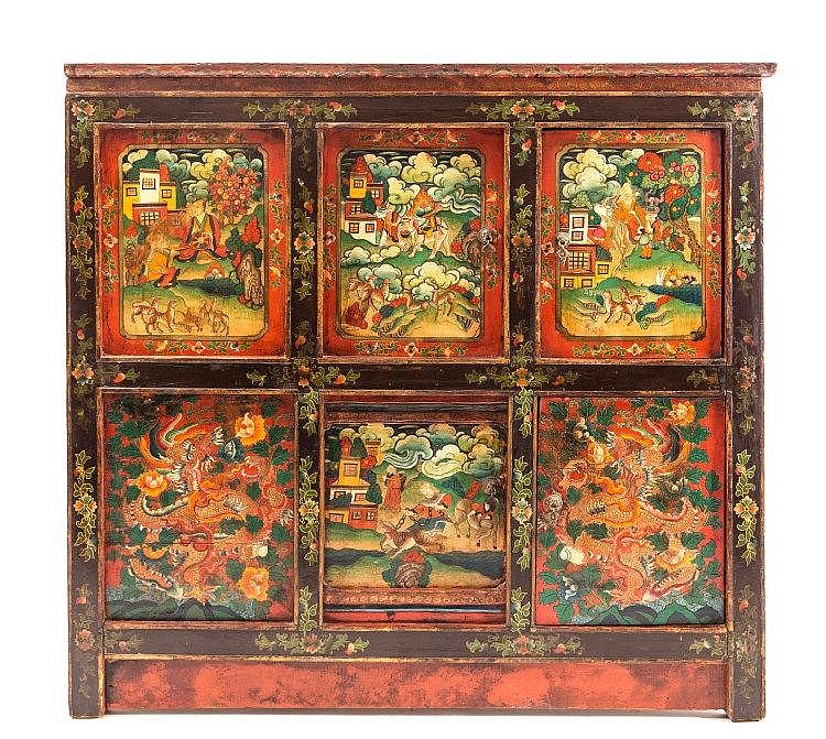 A Tibetancupboard Tibet, late 19th Century