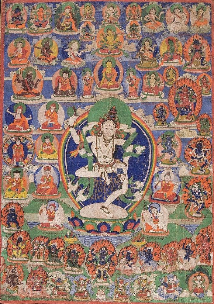A Thangka depictingMaching Labdron Tibet, 19th Century