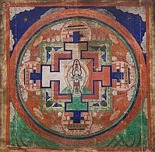A Mandala of Avalokitesvara Mongolia, 19th Century