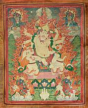 Thangka portraying Pehar Gyalpo Tibet, 18th-19th Century