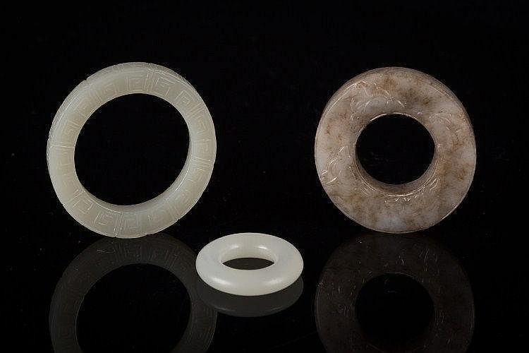 Three jade discs China, Qing Dynasty