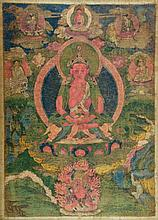 Thangka portraying Buddha Amitayus Tibet, 18th Century