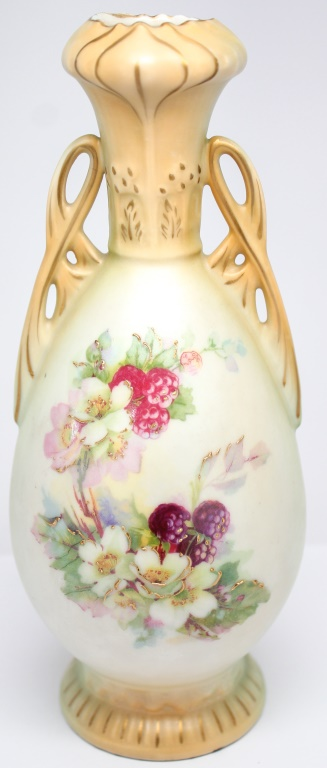 R Hanke Royal Wettina Porcelain Austrian Vase